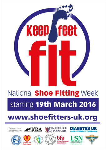 National Shoe Fitting Week 2016 poster