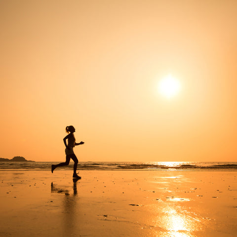 runner on beach