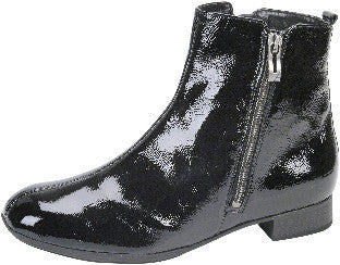 Waldlaufer womens boot patent black leather