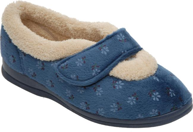 cosyfeet wide fitting warm lined women's slippers