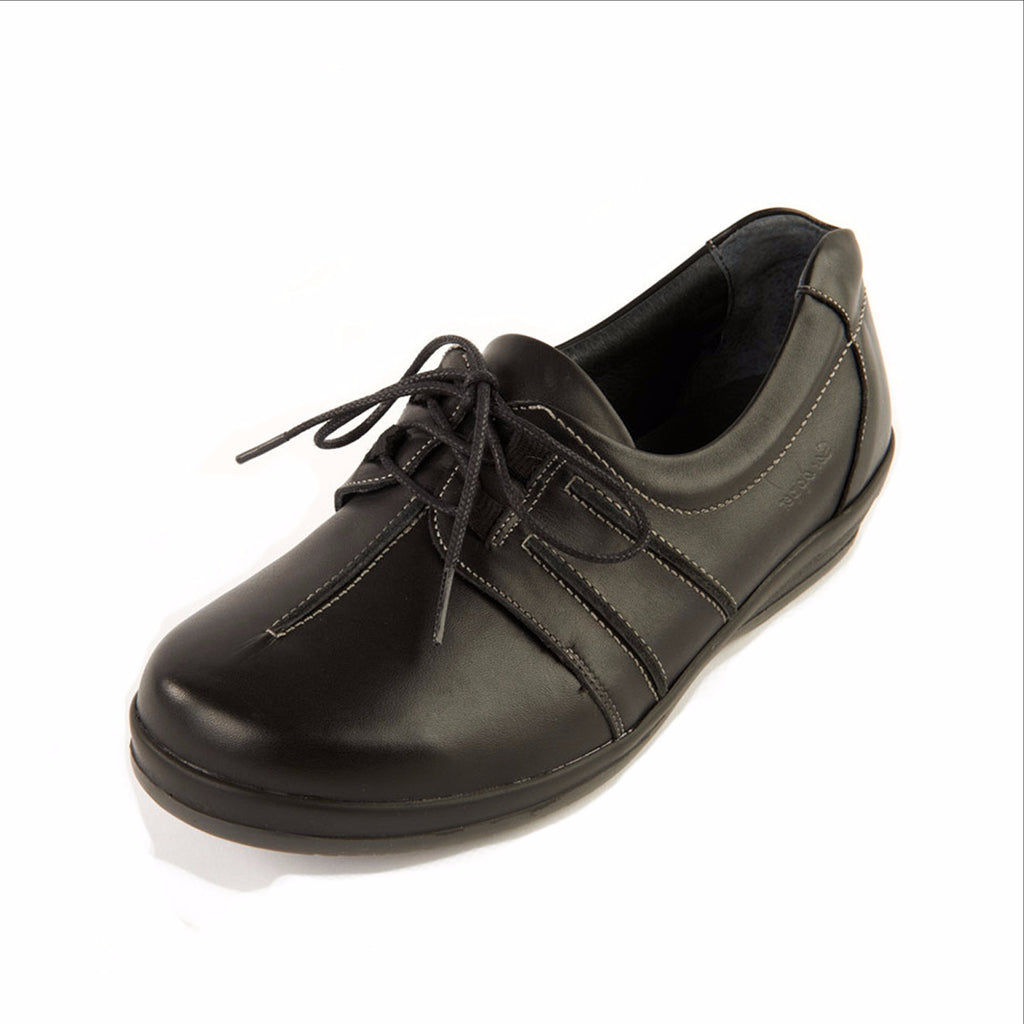 stylish wide fitting ladies lace up shoe