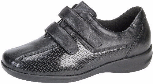 Waldlaufer shoe black leather velcro straps extra wide