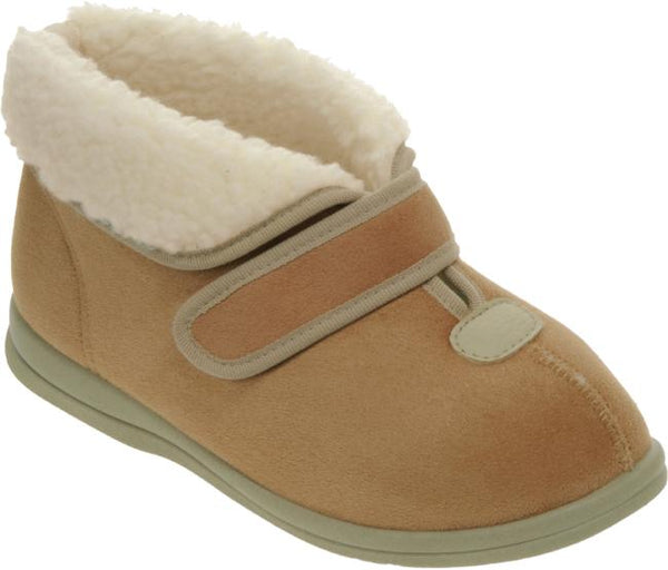 ladies wide fitting slipper/bootie