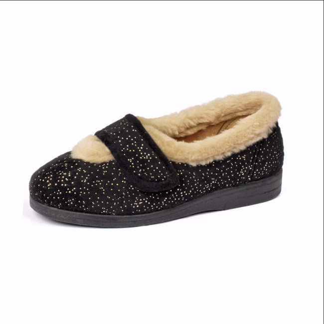 stylish ladies slipper , sparkling finish