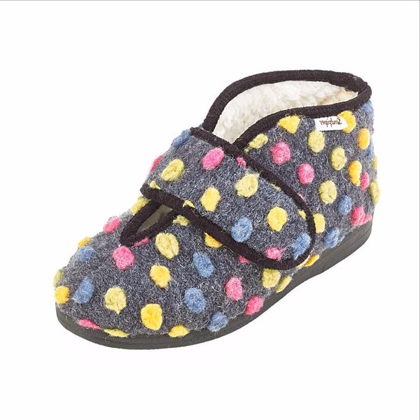 sandpiper ladies stylish and fun wide fitting slipper