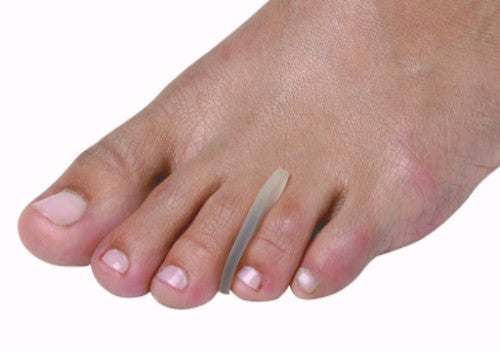 Hydrogel toe separator, for overlapping toes, corns and foot protection