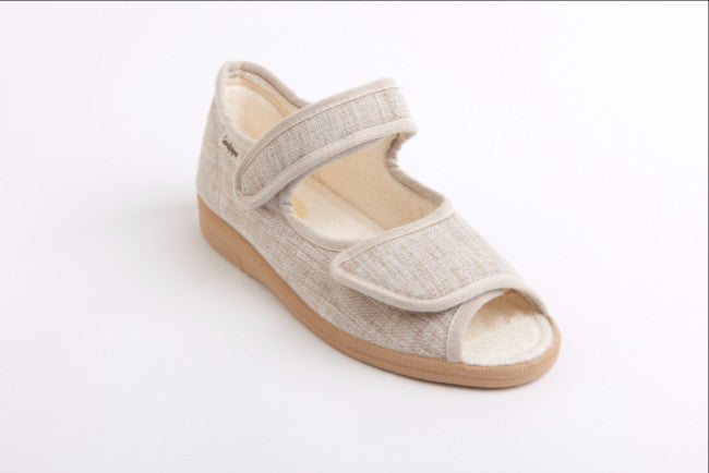 lightweight cotton upper sandal