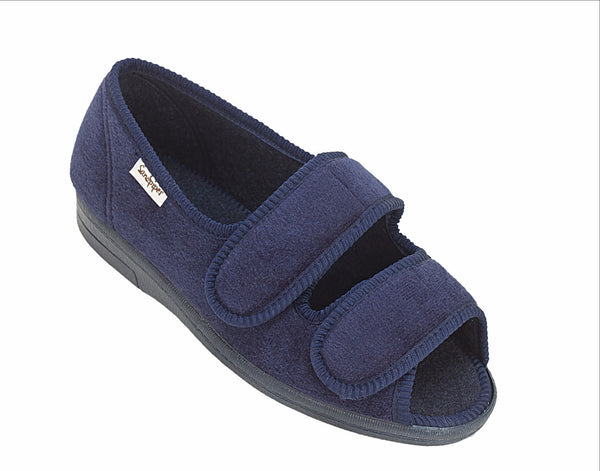 comfortable house shoe with cushioned support