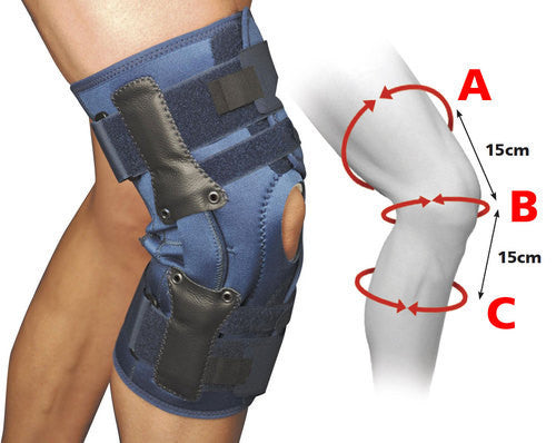 Red Box Fold Over hinged knee brace support