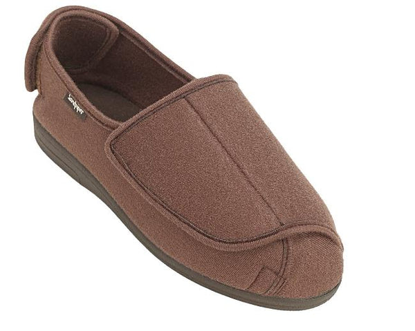 mens extra wide fitting slippers touch fastening