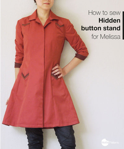 How to add a hidden button placket to the Melissa pattern