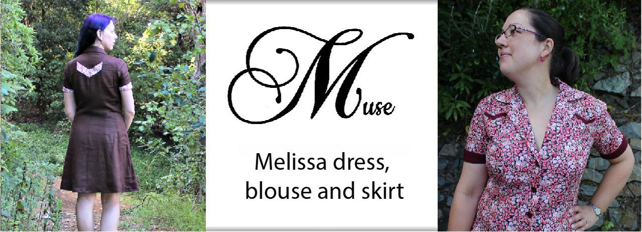 Melissa dress, blouse and skirt by Muse Patterns