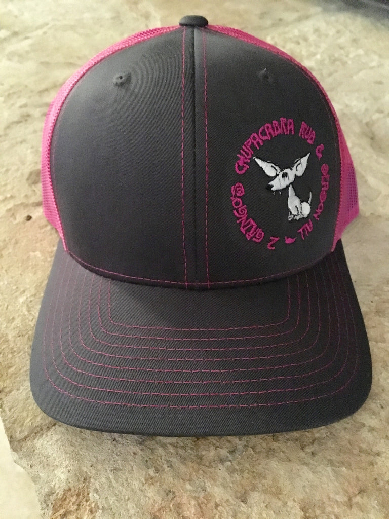 2 Gringos Chupacabra - Gray/Hot Pink Richardson Cap