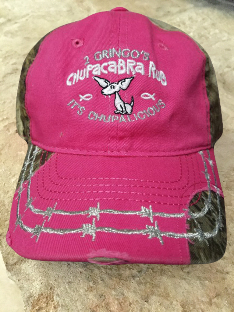 2 Gringos Chupacabra - Pink Camo Ladies Game Guard Cap