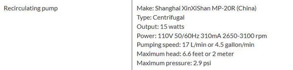 Ai C15 Compact Recirculating Chiller specifications.