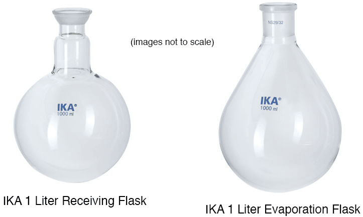 Receiving flask and evaporating flask
