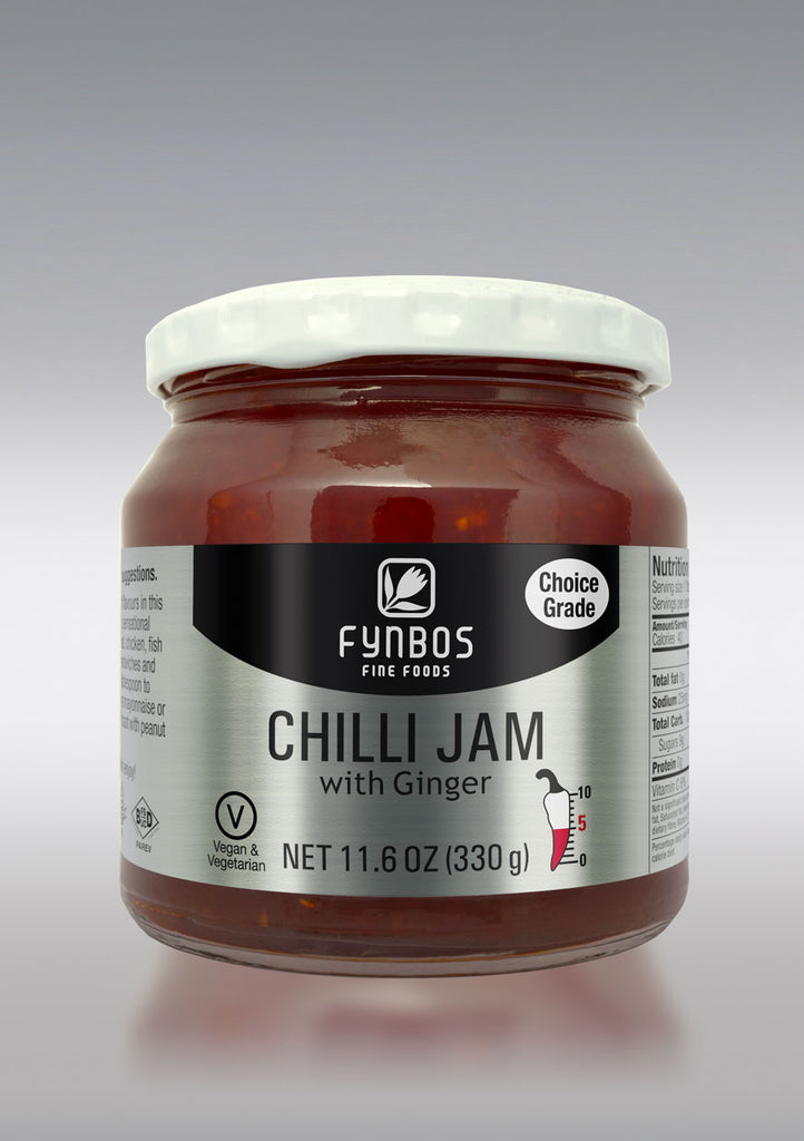 Marmelade Chilli Jam with Ginger 330g, Cape Hothouse Fynbos Fine Foods, Swartland