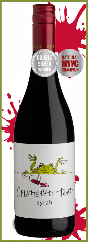 2016 Splattered Toad Shiraz, Cape Point, Cape Peninsula