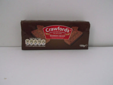 Crawford's Bourbon Creams 150g Biscuits Paisley's