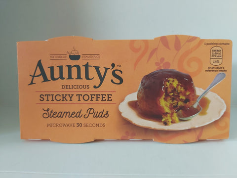 Aunty's Steamed Puds 2 pk Sticky Toffee