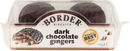 Border Dark Chocolate Gingers 175g