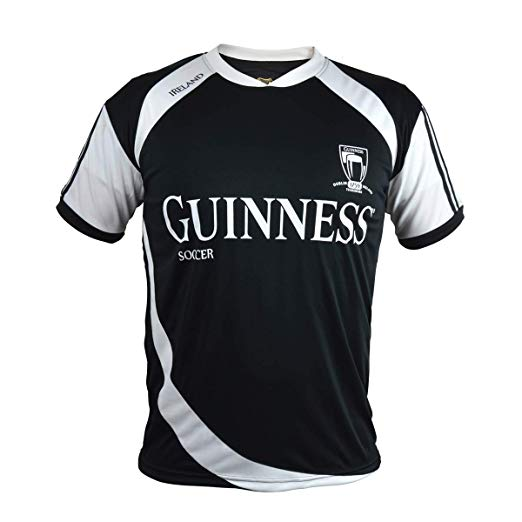 GUINNESS – BLACK & WHITE SOCCER JERSEY