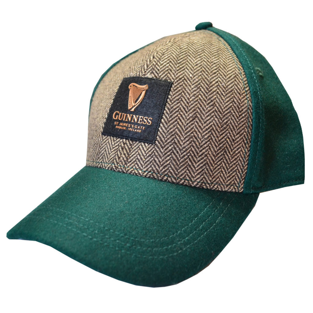 GUINNESS – GREEN EMBOSSED TWEED BASEBALL HAT