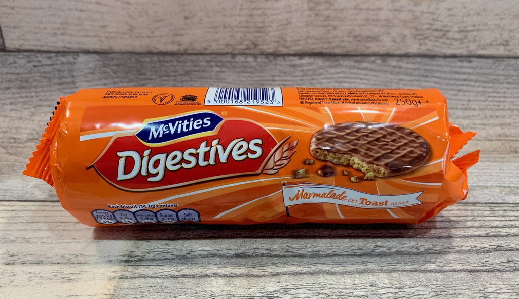 McVities Digestives Marmalade on Toast