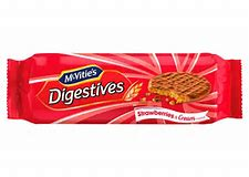 McVities Digestives Strawberries and Cream