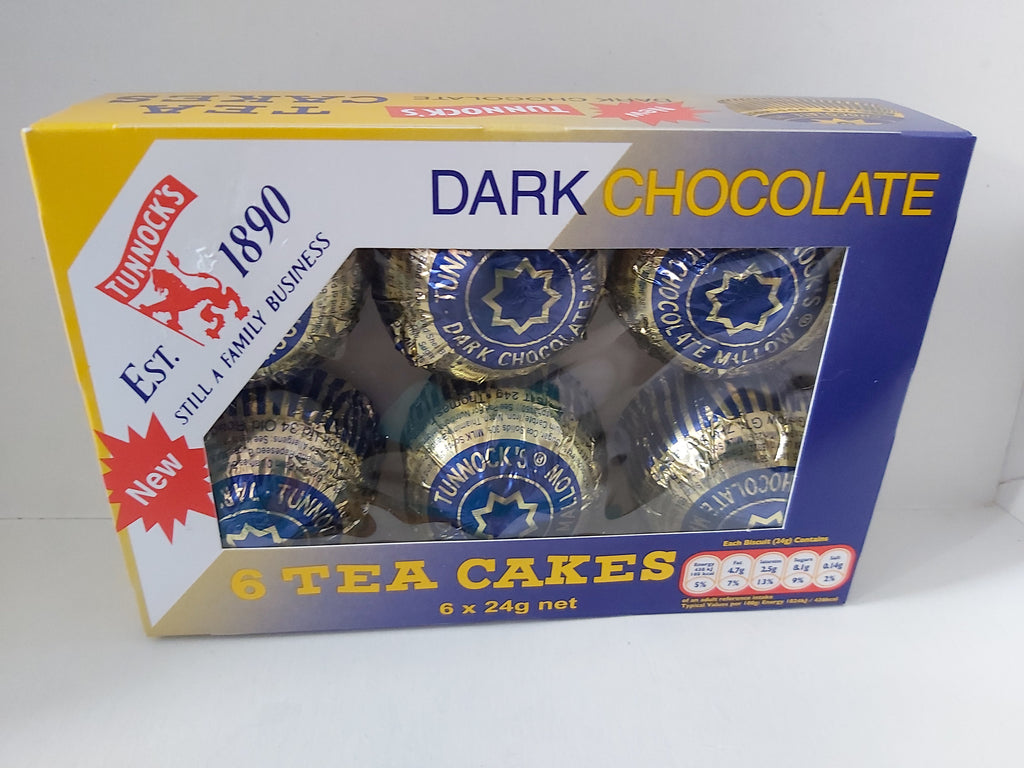 Tunnock's Dark Chocalate Tea Cakes 6 pk