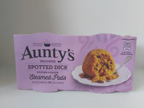 Aunty's Steamed Puds 2 pk Spotted Dick