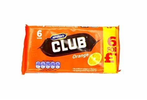 McVities Club Orange 6 Pack