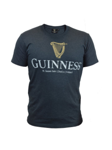 GUINNESS – NAVY DISTRESSED T-SHIRT