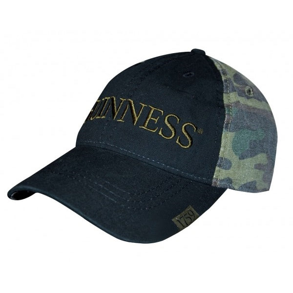 GUINNESS – WASHED CAMO PRINT BASEBALL HAT