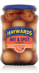Haywards Hot and Spicy Onions 400g