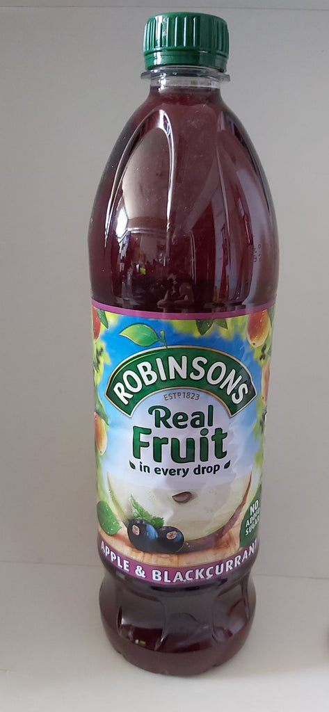 Robinsons's Real Fruit Concentrate Apple and Blackcurrant 1L