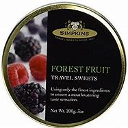 Simpkins Finest All Natural Travel Sweets Forest Fruit Drops 200g