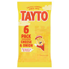 Tayto's Cheese and Onion 6 Pk 125g