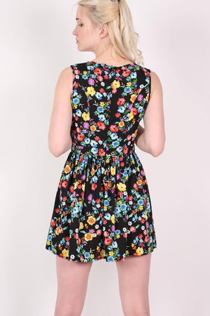 Cut Out Front Floral Dress in Multi Colour 4