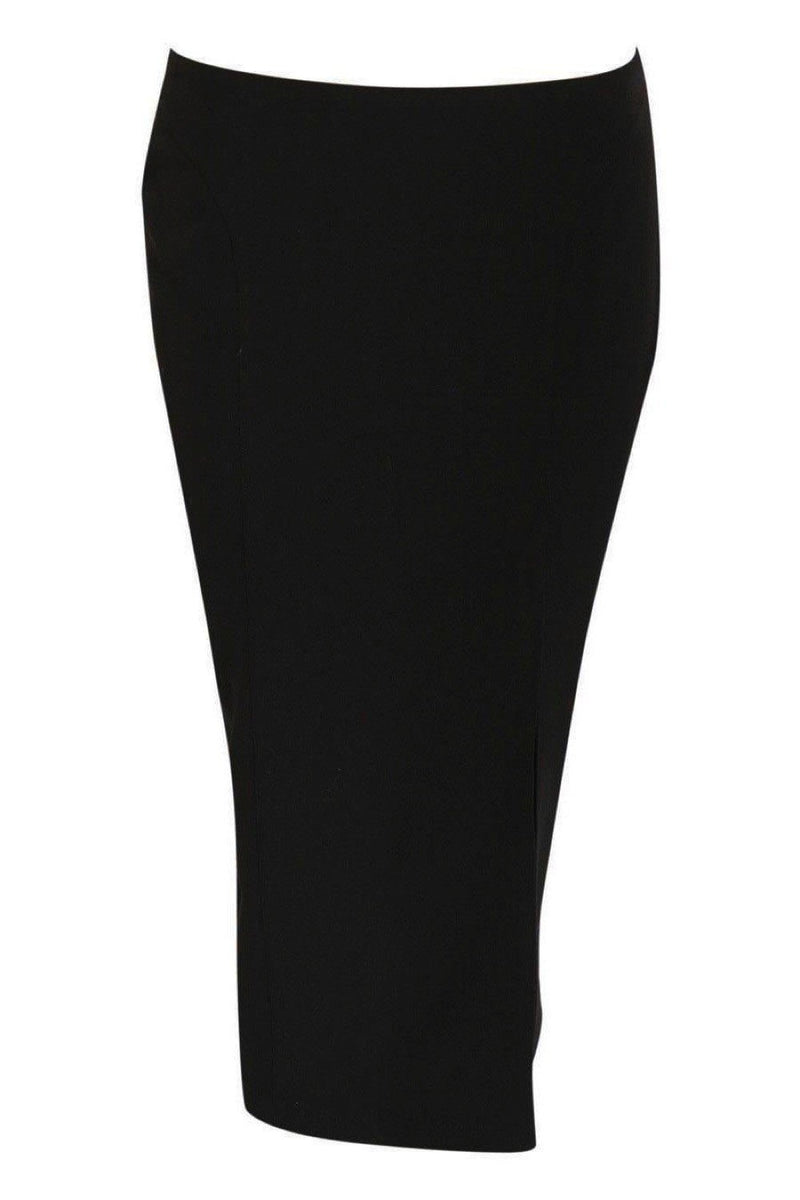 Front Split Pencil Skirt in Black 2