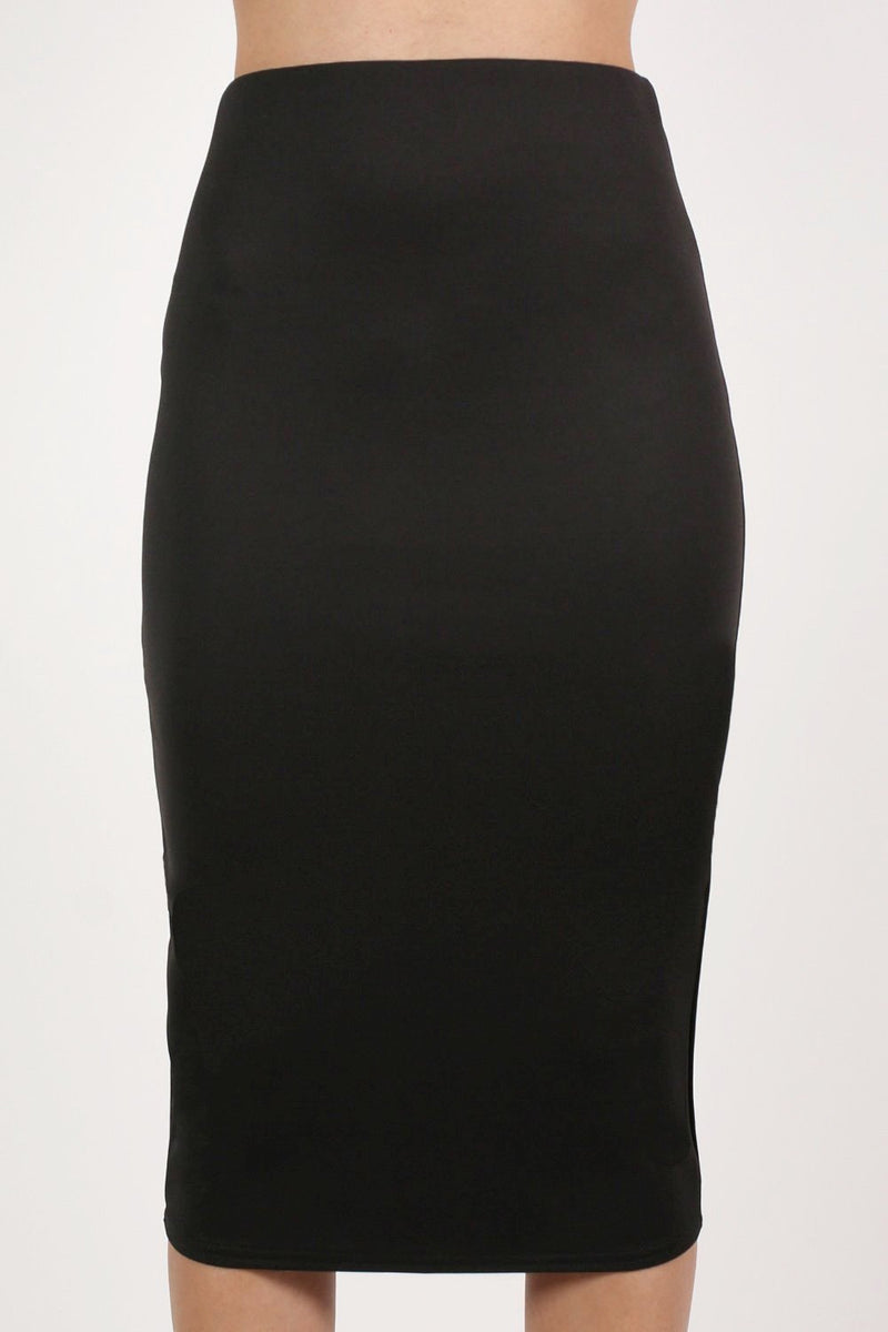Pencil Tube Skirt in Black 1