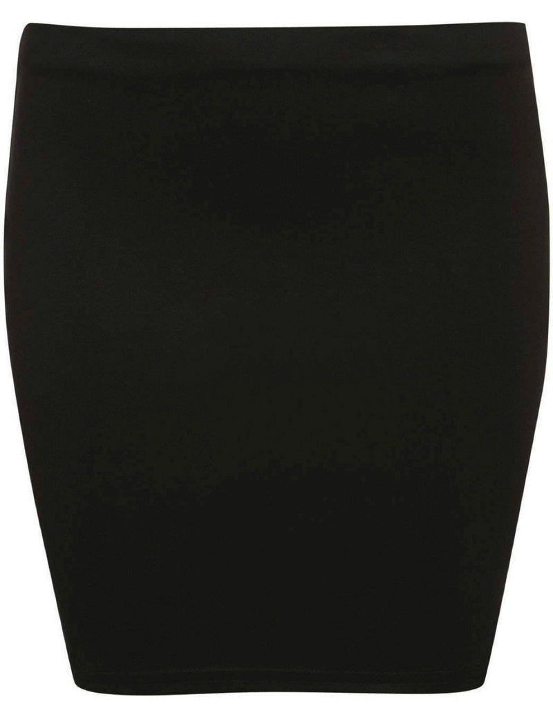 Plain Bodycon Mini Skirt in Black 2