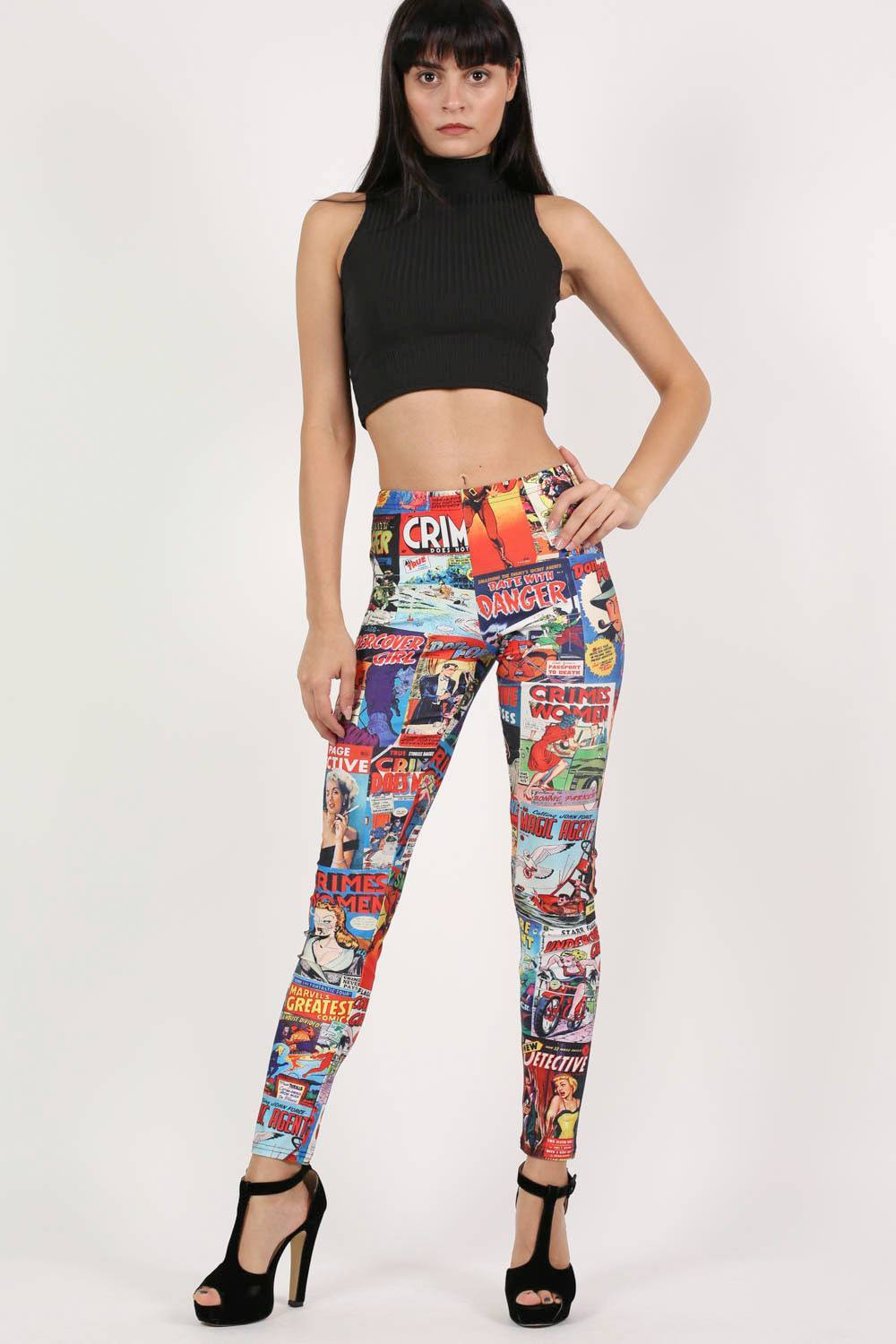 Cartoon Print Leggings 0