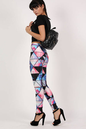 Geometric Print Leggings 6