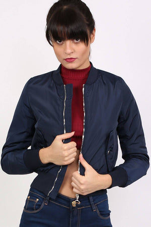 Bomber Jacket in Navy Blue 0