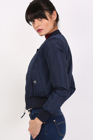 Bomber Jacket in Navy Blue 1