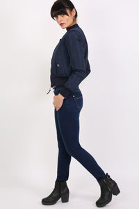 Bomber Jacket in Navy Blue 5