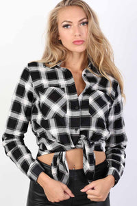 Brushed Check Shirt in Black 1