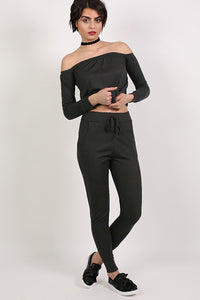 Pocket Detail Loungewear Joggers in Black 0