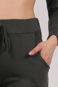 Pocket Detail Loungewear Joggers in Black 2